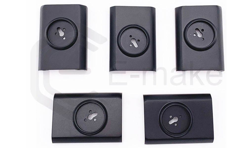 plastic injection molding cnc parts in black